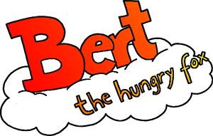 Bert the hungry Fox - LOGO